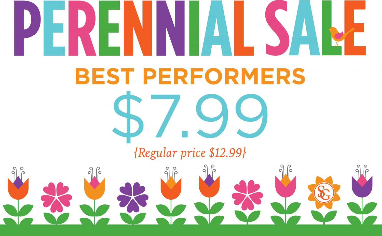 Perennial Sale Sign