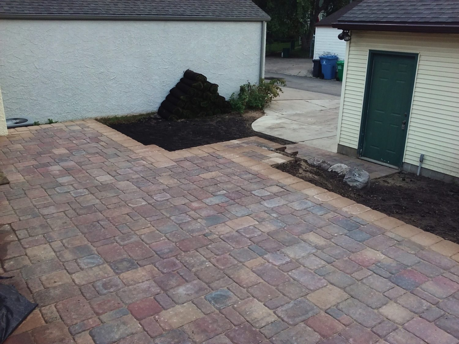 Paver Patio In-Progress