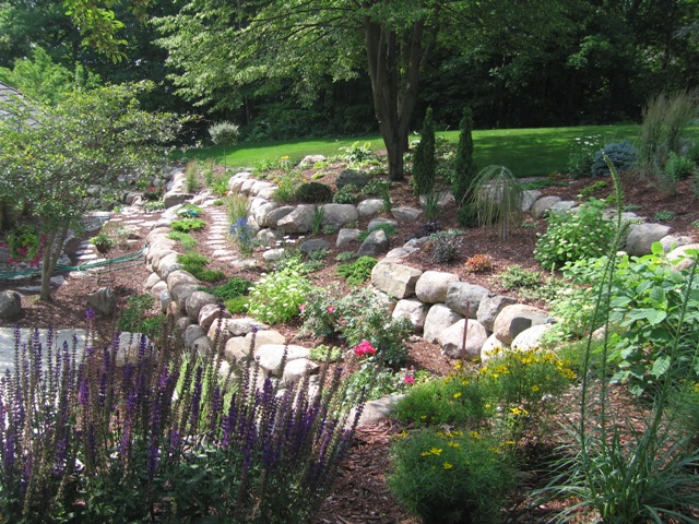 perennial beds tiered garden