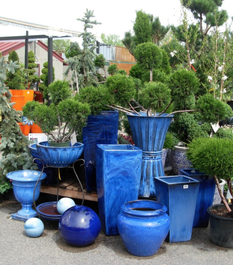 Ceramic Pots Blue