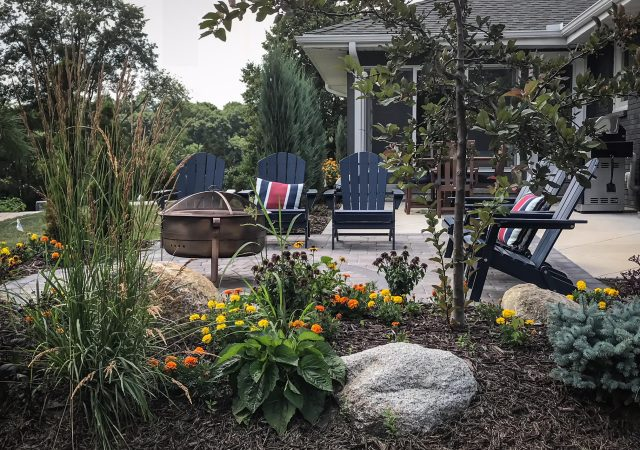 Landscape Mulch Patio Shrubs Perennials