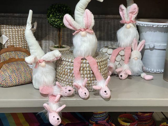 Spring bunny in pajamas.