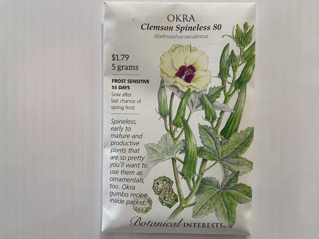 Okra Clemson Spineless 80
