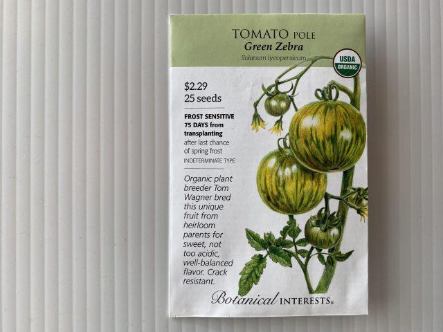 Tomato Pole Green Zebra