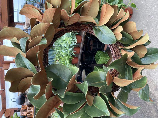 Magnolia Wreath Faux