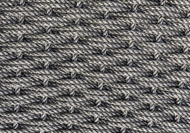 The rope co charcoal rug