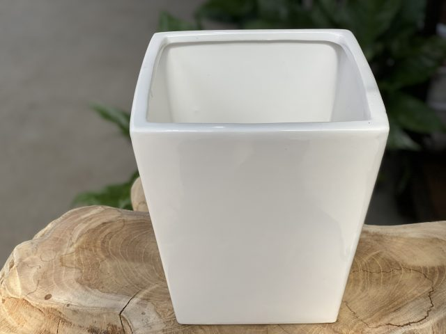 White Taper Planter