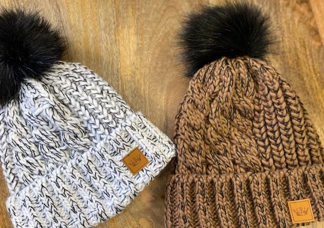 panache cable knit hat