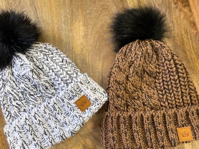 panache cable knit hat