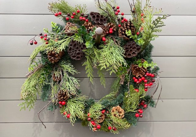 Wreath Berry, Pinecone, Pod