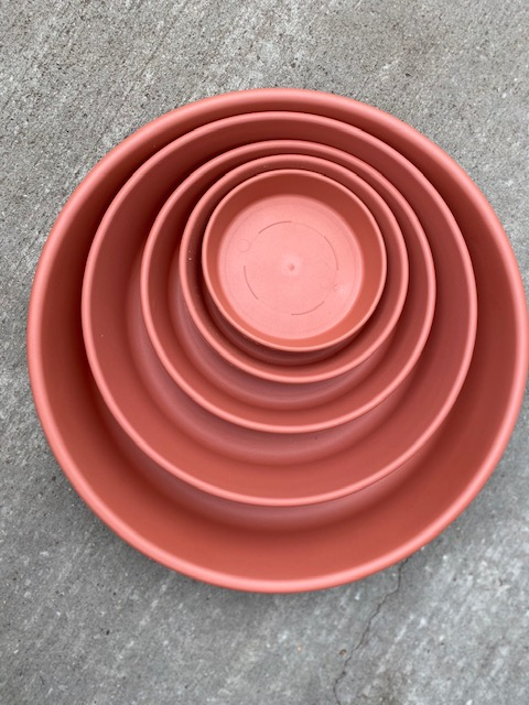 Plastic Clay Saucers